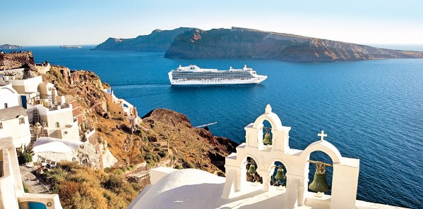 Emerald Princess, Santorini, Greece