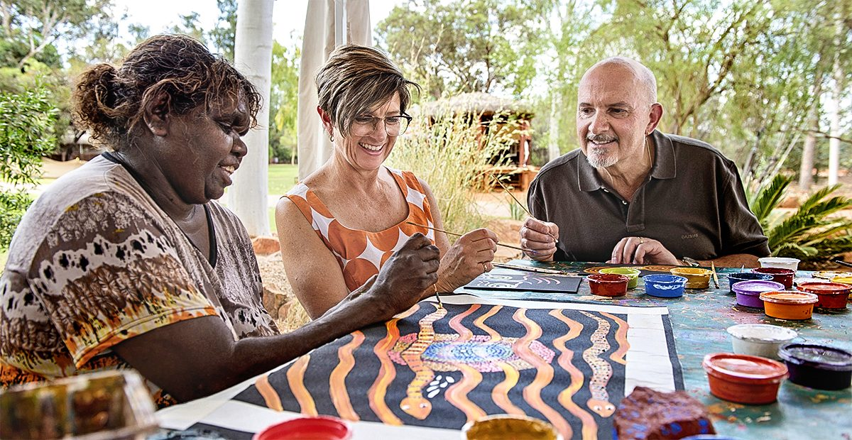 Maruku Arts Dot Painting Workshop, Yulara