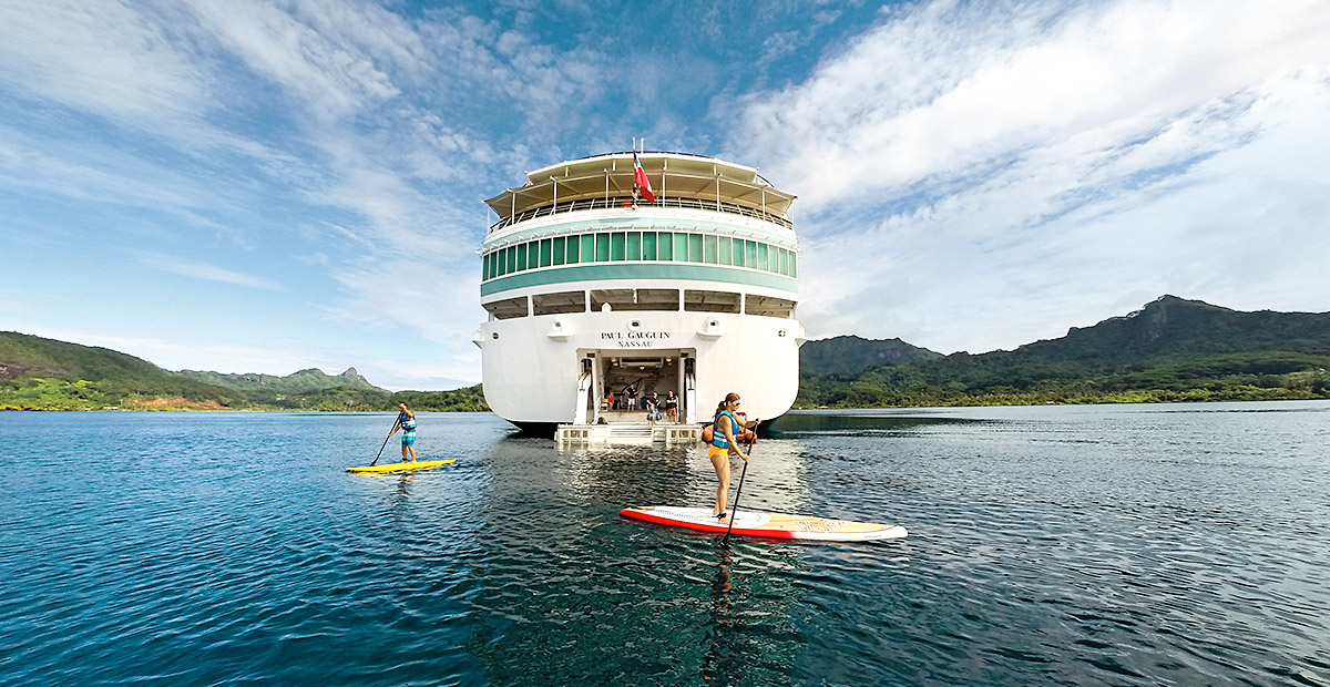 Explore the bay by paddleboard.