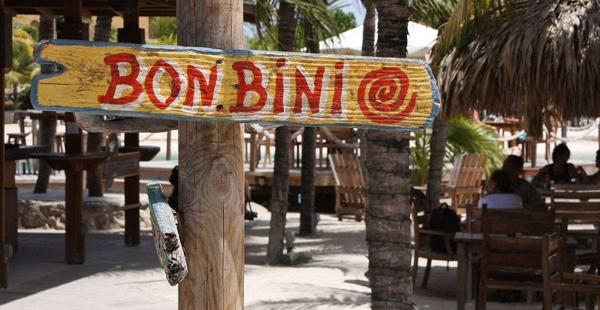 Welcome sign – Bon Bini