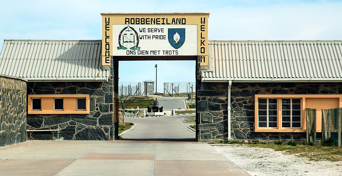 Nelson Mandela was imprisoned at Robben Island for 18 years.