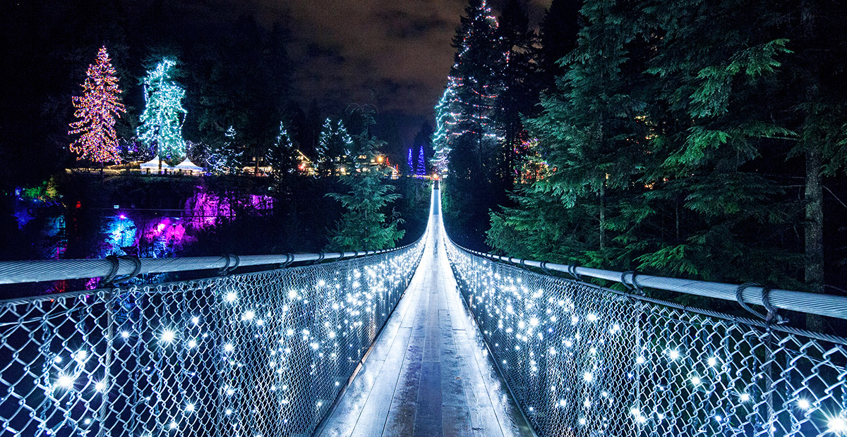 22653_Vancvr_Canyon Lights on Capilano Suspension Bridge with Park in background