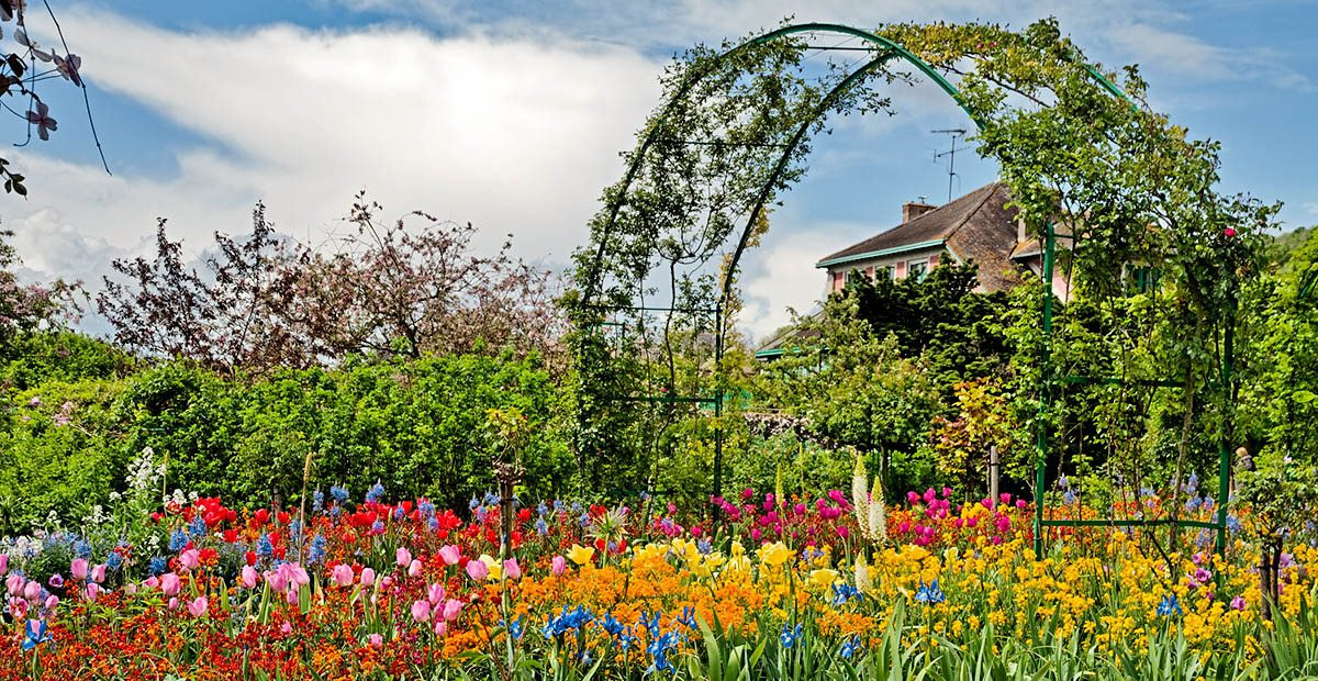 Beautiful garden at spring, Giverny, France.
