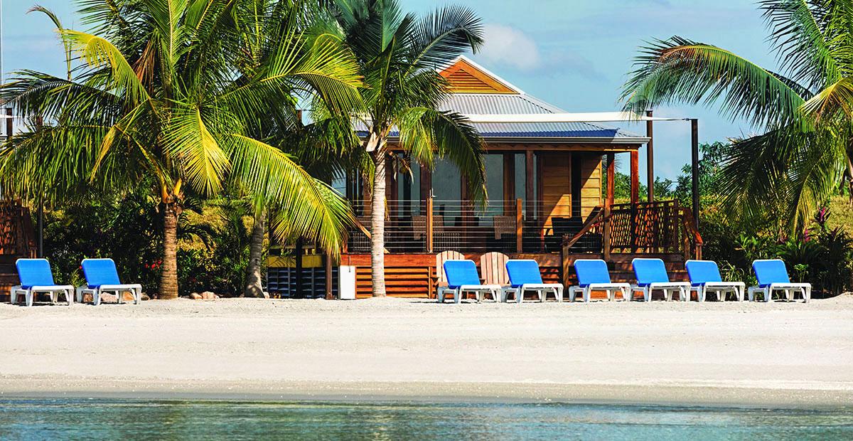 Harvest Caye, Belize, Beach, Beach Cabana