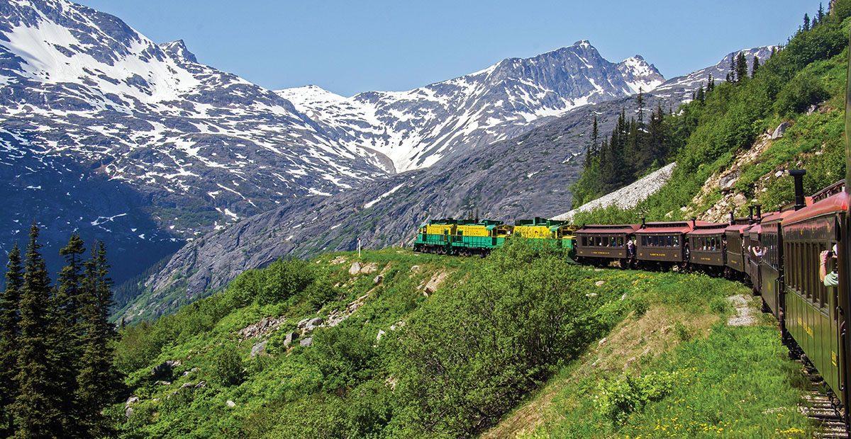 White Pass & Yukon Route Railroad heads towards White Pass. Image shot 06/2013. Exact date unknown.