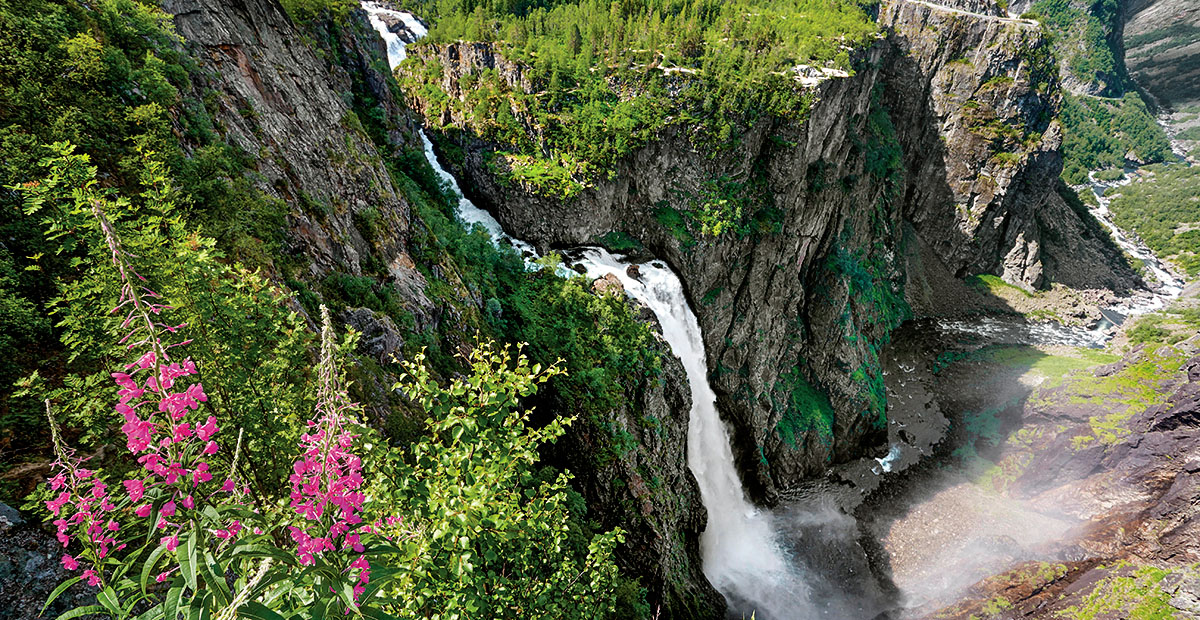 The Voringfossen waterfall, Hordaland, Norway