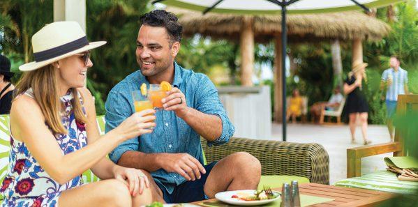 Exclusive Coco Beach Club restaurant