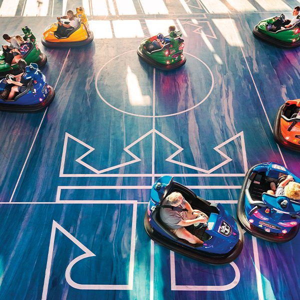SeaPlex where guests can find Bumper Cars or Glow in the dark laser tag